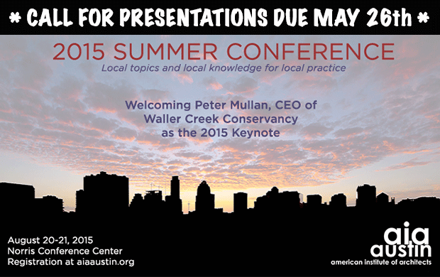2015 Summer Conference CALL FOR PRESENTATIONS Due MAY 26th