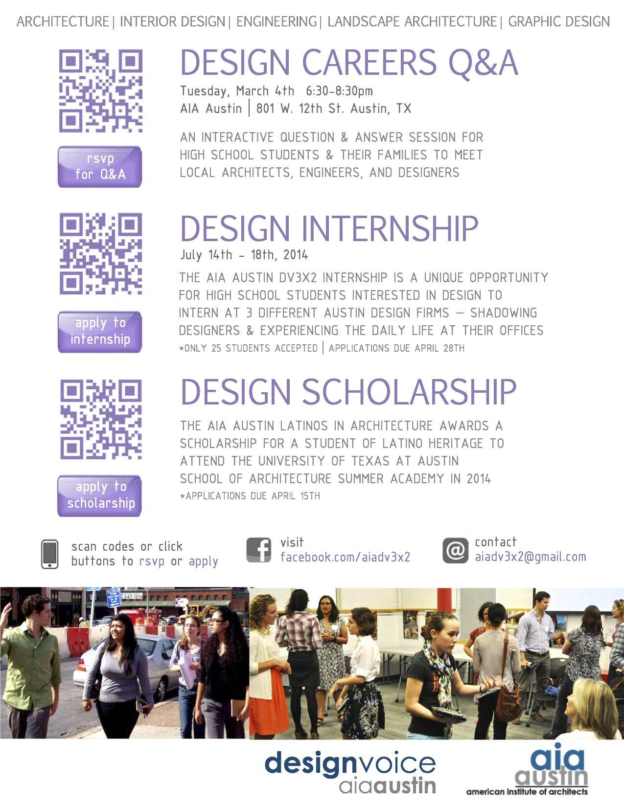 If You Are Interested Or Know Someone Who Is In Attending The Design QA Please RSVP At This Link Here A To Student Application